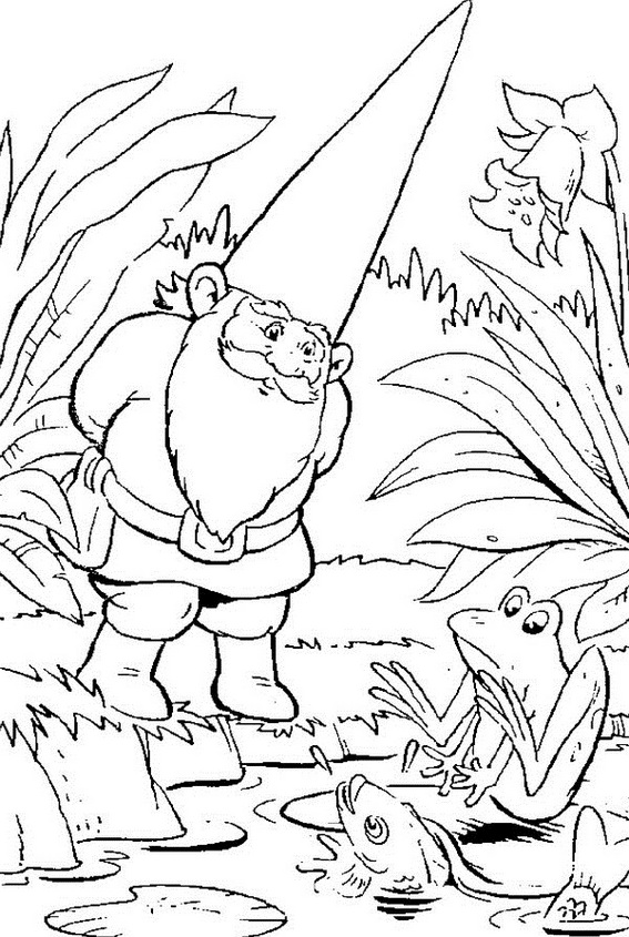 Gnome Dwarfish Creature Coloring Sheet