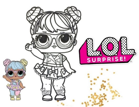 sweet and cute lol surprise coloring pages for doll
