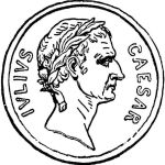 Julius Caesar Coin Roman Money Coloring Page