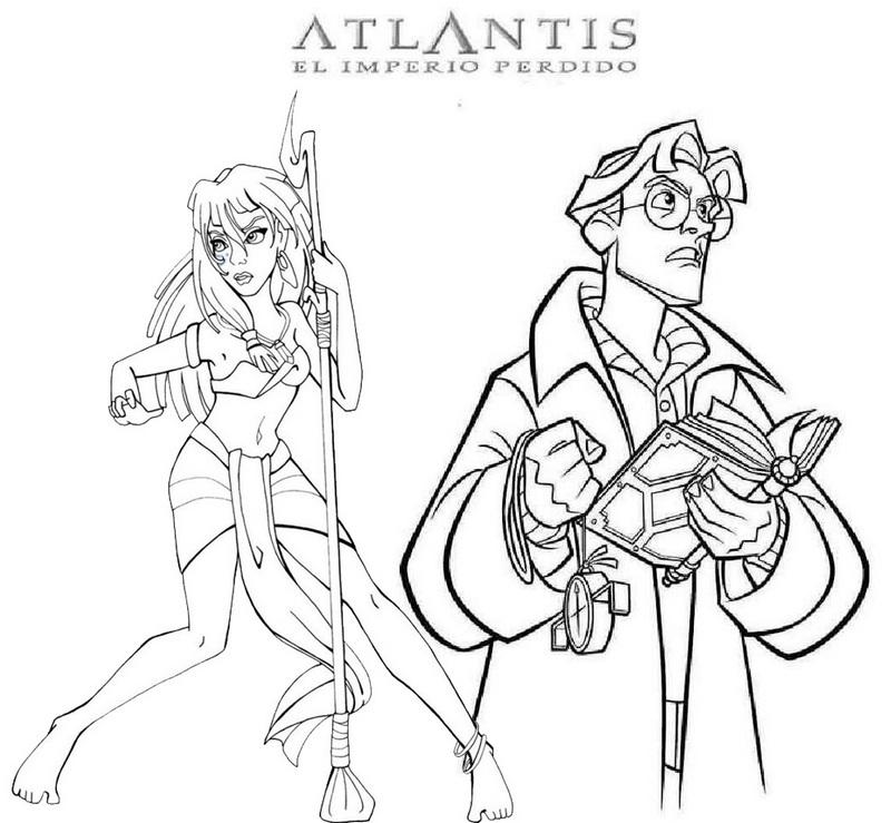 Kida and Milo James Atlantis Coloring Page