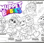 Muppet Babies Characters Coloring Sheet for Kids