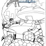 Perfect Fantastic 4 Coloring Page for Kids