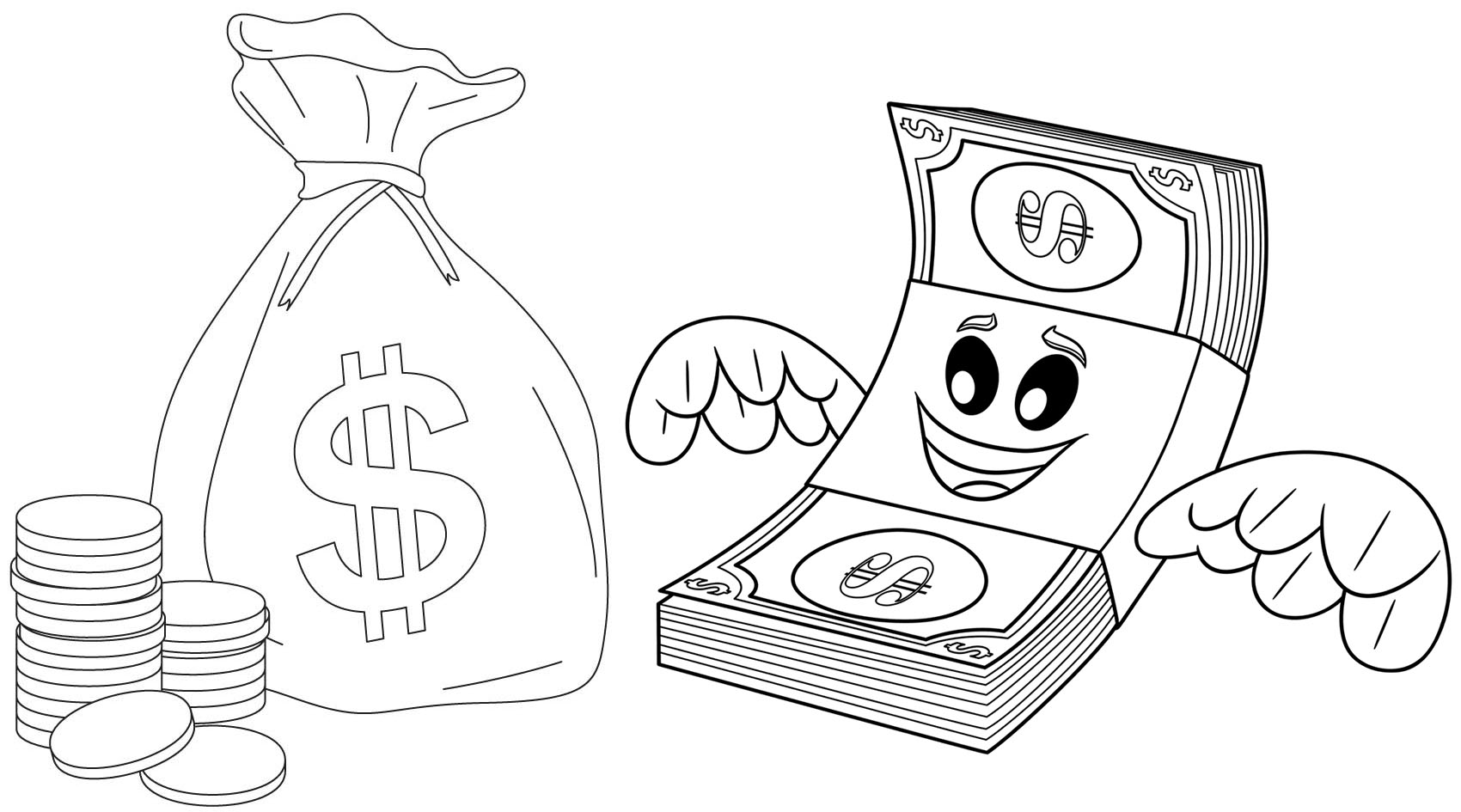 Contemporary Money Coloring Pages Component - Documentation Template ...