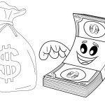 Pretty Fun Money Coloring Page