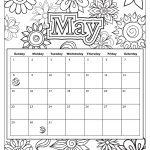 Printable May Calendar Coloring Page