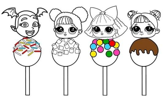 Sweet Lollipop LOL Surprise Coloring Page