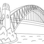 Sydney Harbour Bridge Coloring Page
