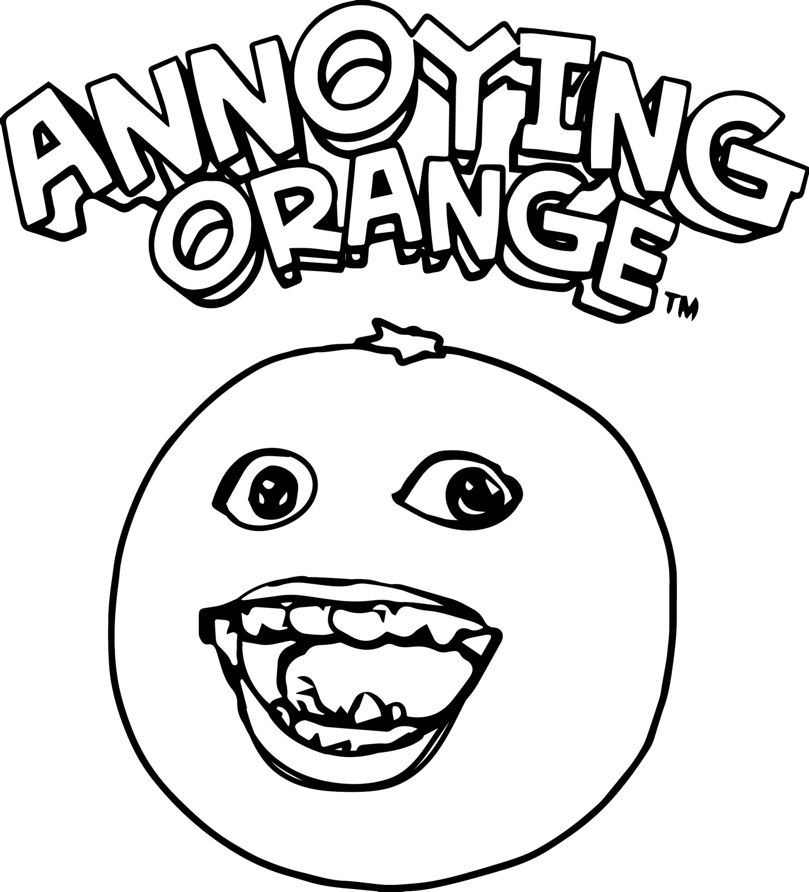 The Annoying Orange Coloring Pages for Children