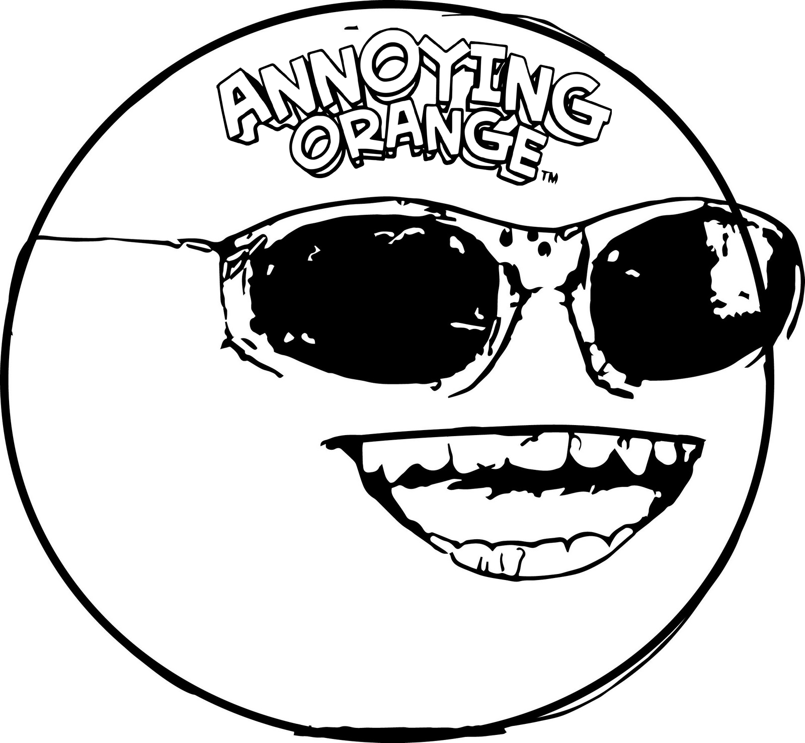 Top High Detailed Annoying Orange Coloring Pages