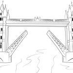 Tower Bridge London Coloring Page