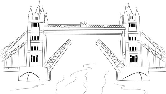 Tower Bridge London Coloring Page