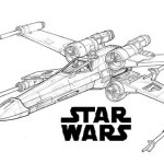 X Wing Fighter The Force Awakens Star Wars Coloring Page for Boys