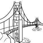 bridge coloring page online