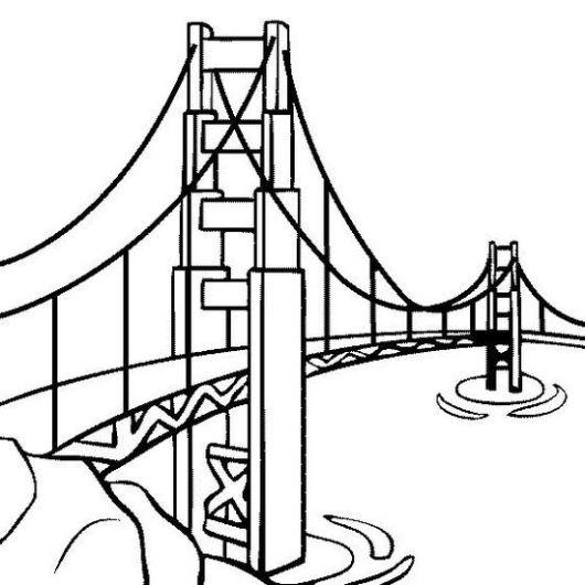 bridge coloring page online