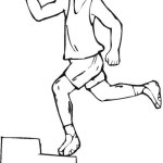 fitness running coloring page ideas