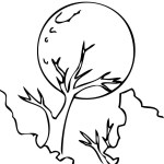 full moon coloring page online