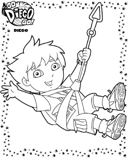 go diego go flying squirrel coloring page for children