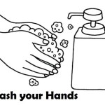 handwash clipart coloring sheet