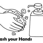 handwash clipart coloring sheet