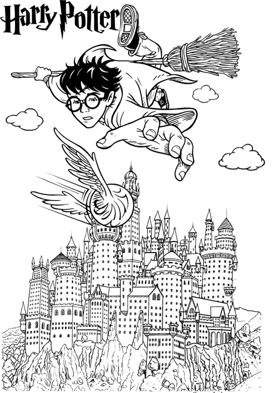 harry potter hogwarts castle coloring page