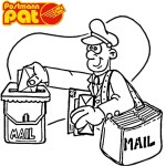 postman pat delivering mail coloring pages
