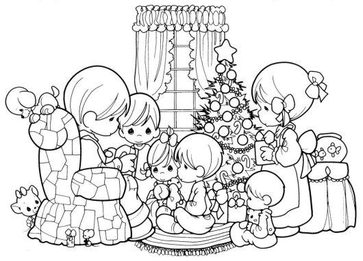 precious moments Christmas coloring sheet