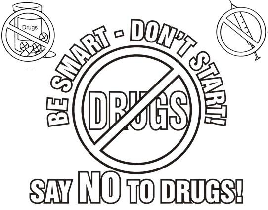say no to drugs coloring sheet