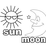 sun and moon coloring sheet