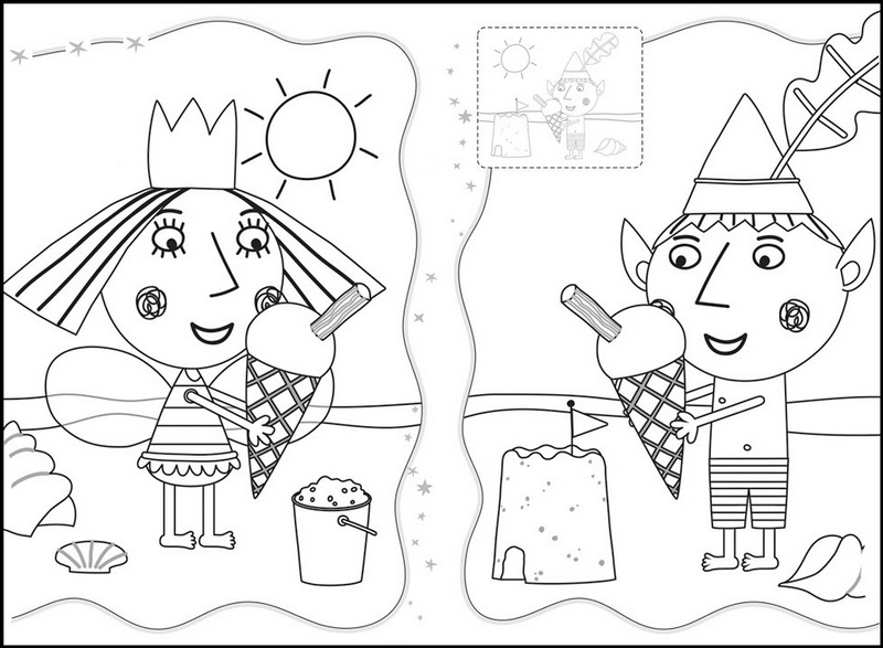 Ben and Holly Ice Cream Coloring Page