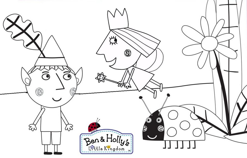 Ben And Hollys Little Kingdom Coloring Pages To Print
