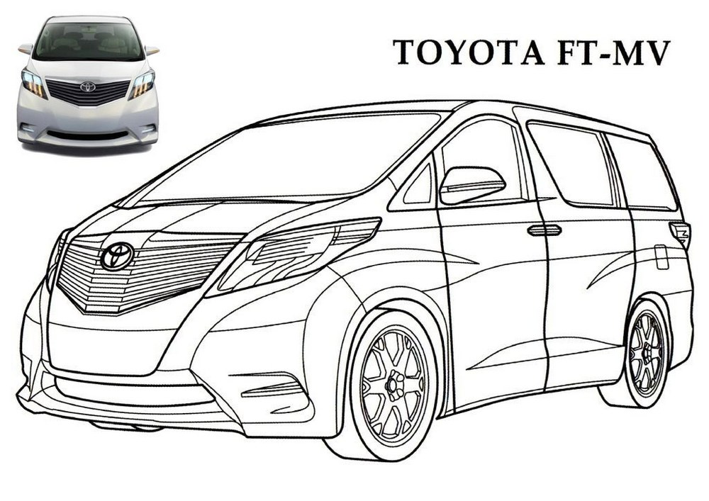 Toyota FT MV printables coloring pages