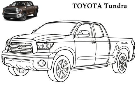 Toyota Tundra Coloring Page