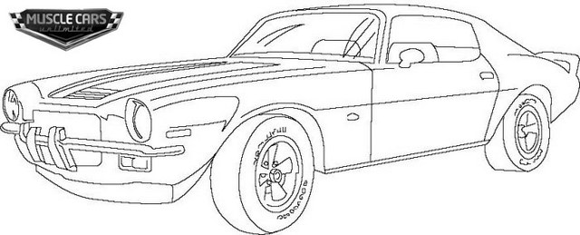 Barracuda Muscle Cars Coloring Pages