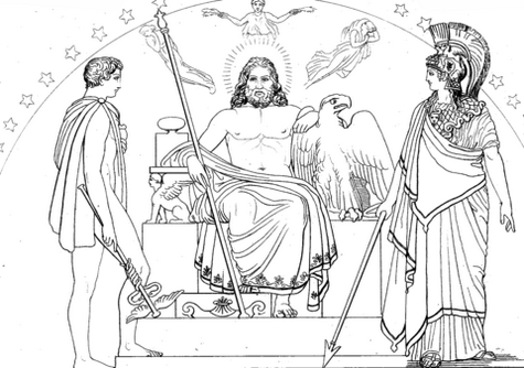 Best Hermes and Other Greek God Coloring Page