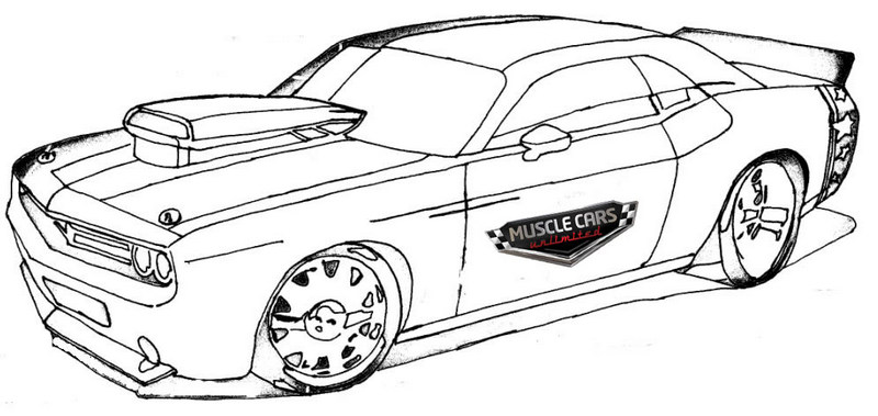 Chevy Muscle Car Coloring Pages Printable