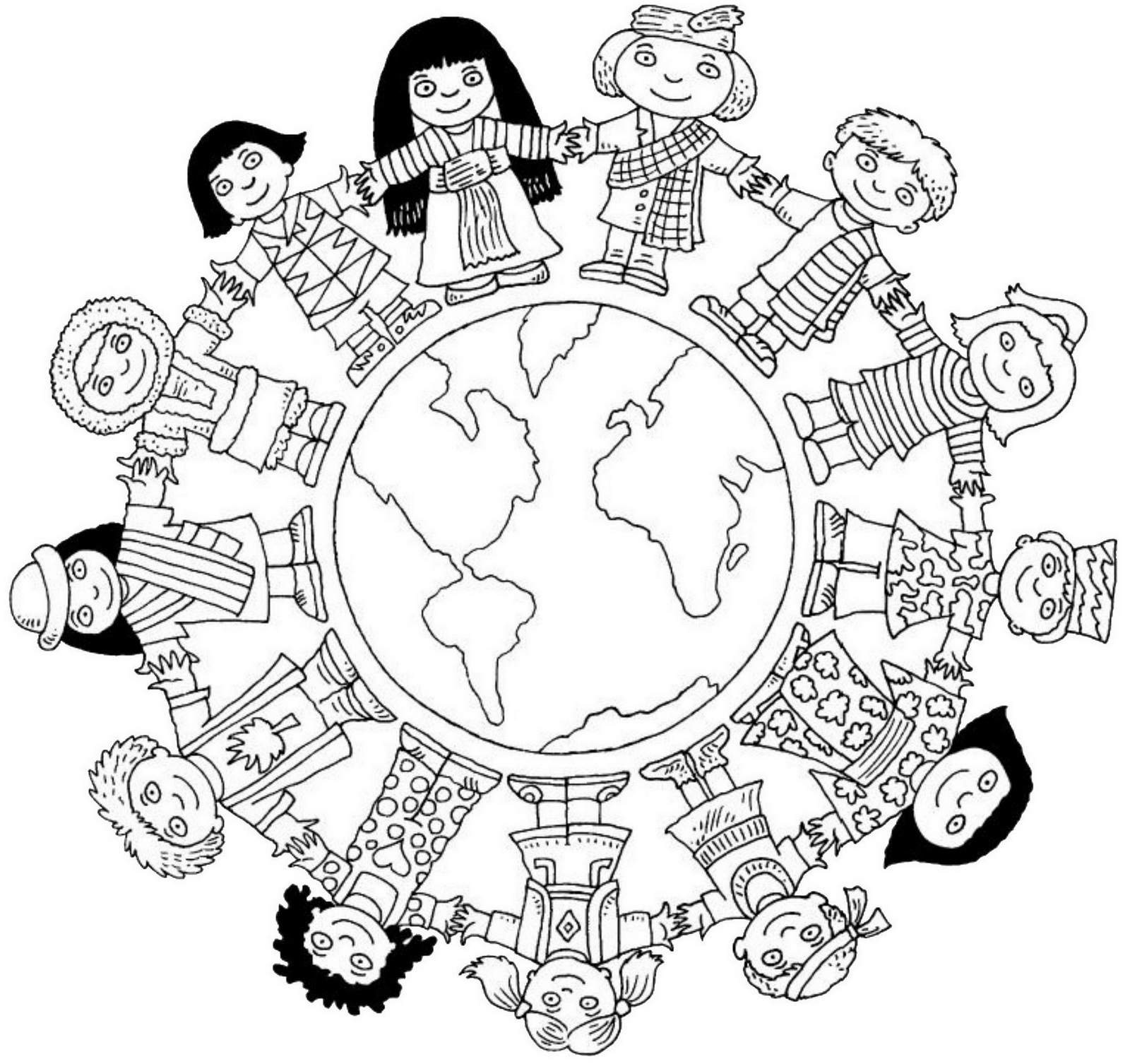 multicultural themed lesson resources coloring pages for kids