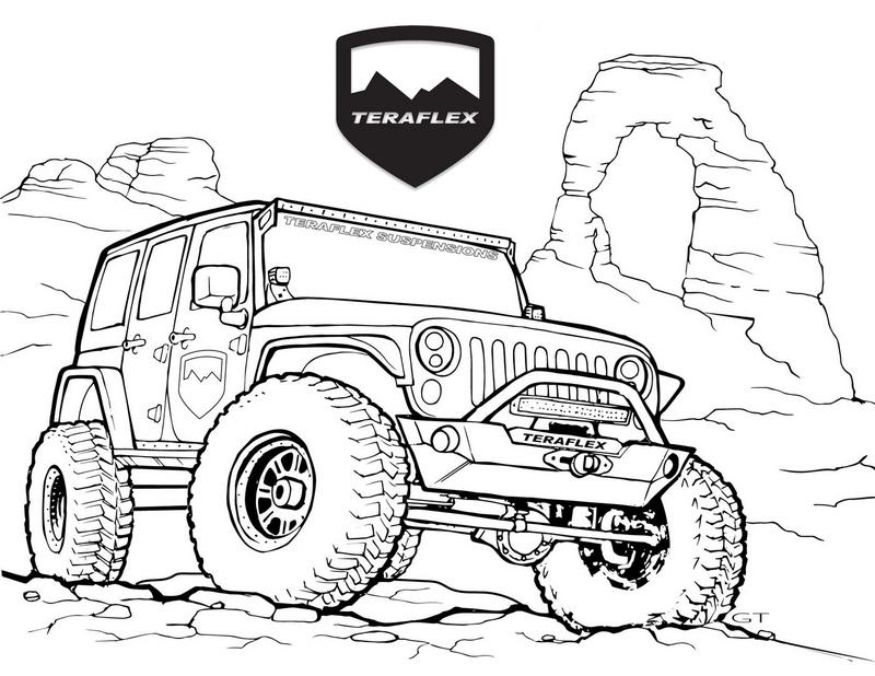 Best Jeep Teraflex Coloring Page