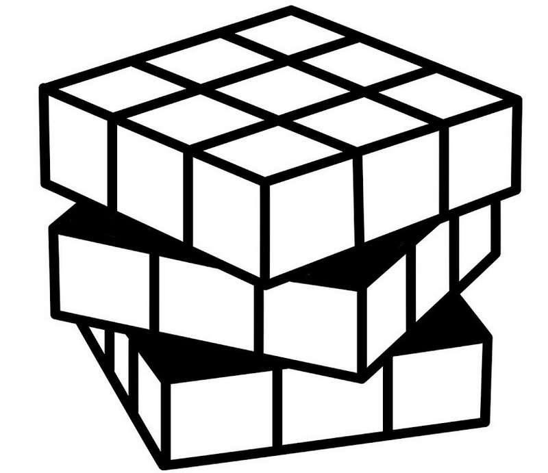Cube Coloring Pages Sketch Coloring Page