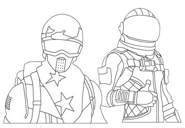 Fortnite Coloring Pages All Skins