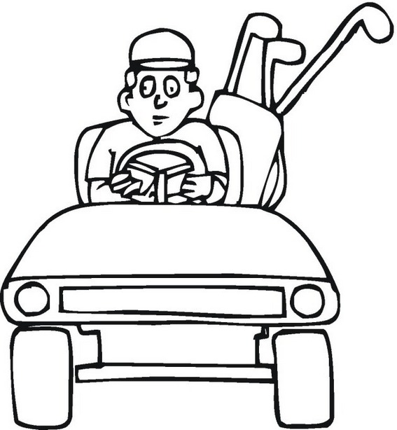 golf car coloring page