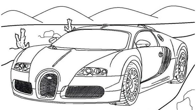 amazing bugatti coloring page online