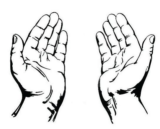 high detailed praying hands drawing coloring page