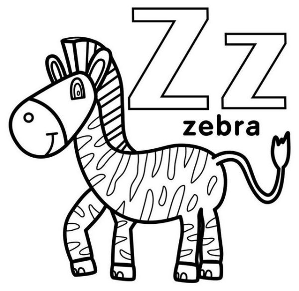 letter z coloring page # 42