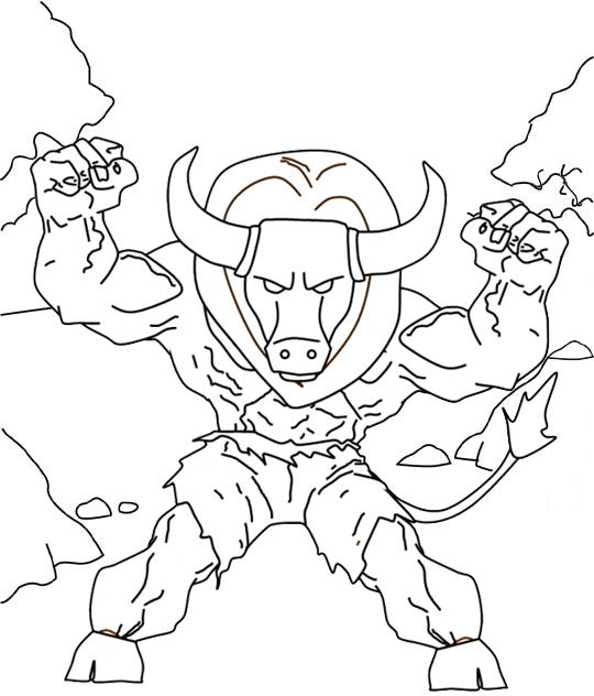 Fantasy Minotaur Coloring Page