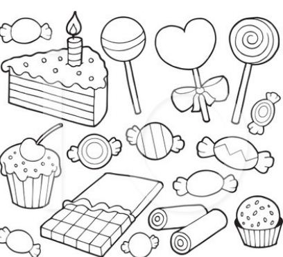 Desserts Coloring Pages Coloringpagesonly Com