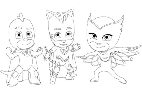 Pajama Hero Connor Is Catboy From Pj Masks Coloring Games