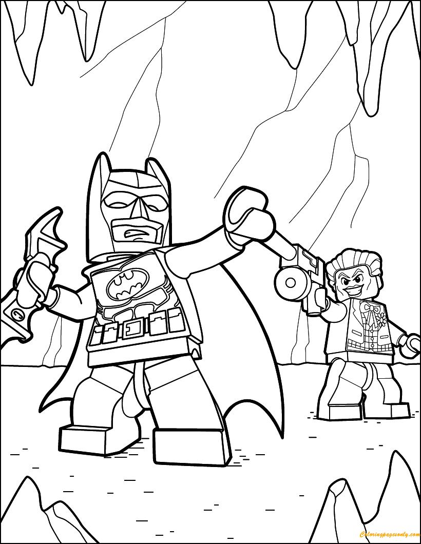 lego batgirl coloring page