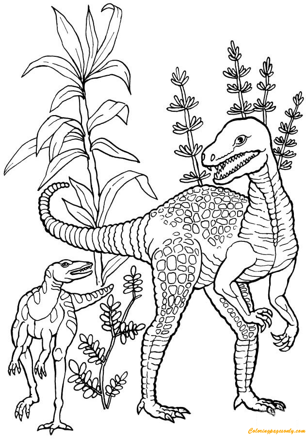 Herrerasaurus Dinosaur Coloring Page Free Coloring Pages