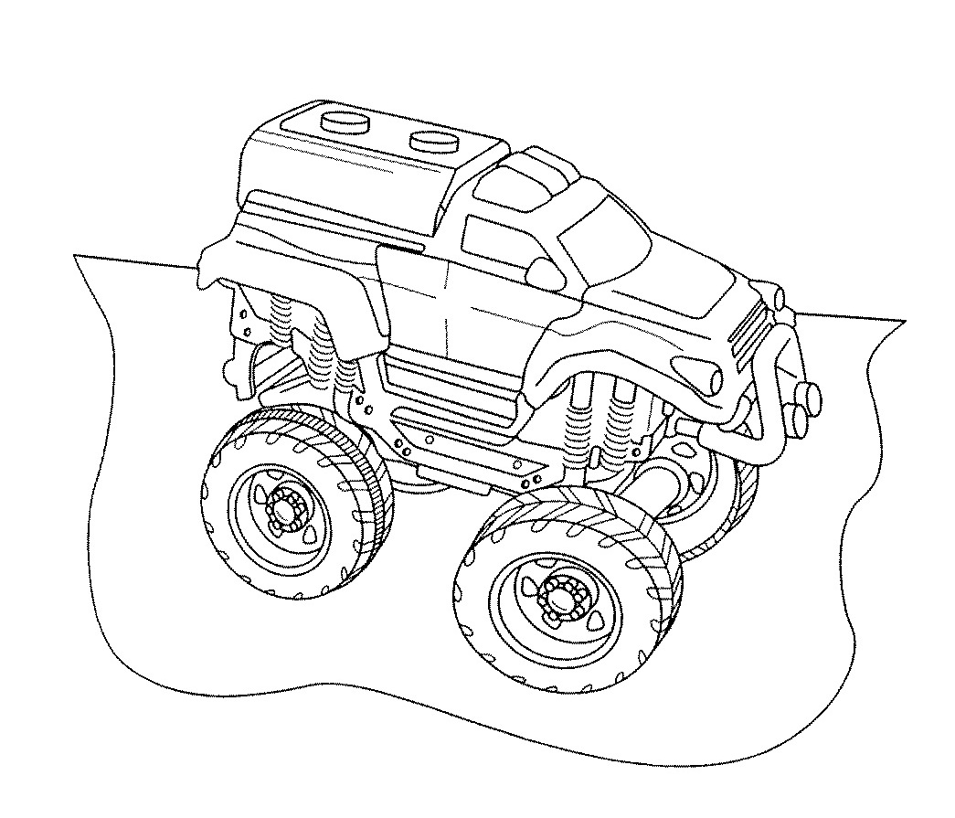 Max D From Monster Truck Coloring Page