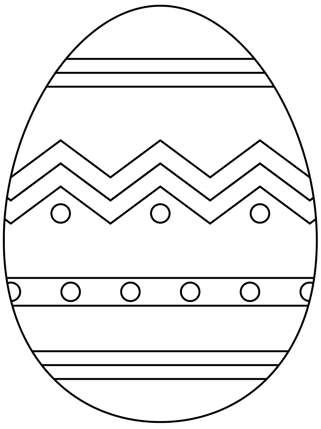 Heart Easter Eggs Coloring Page